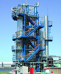 Incinerator for Waste Liquids and Waste Gas