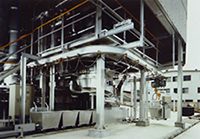 Cyclone Melting Furnace for Sewage Sludge